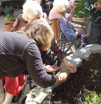 Gardening projects involve many residents.