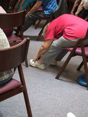 Residents gets lots of physical exercise from a variety of fitness programs