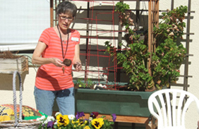Memory Care residents love gardening and staying busy with other projects